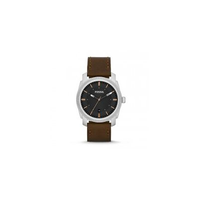 Fossil - Machine Three-Hand Leather Watch - Brown