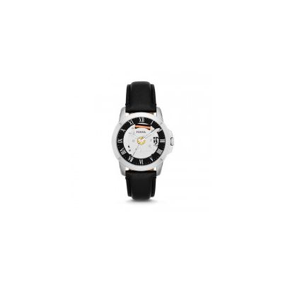 Fossil - Grant Three-Hand Leather Watch - Black