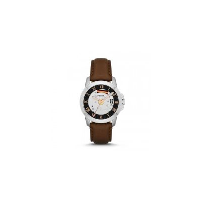 Fossil - Grant Three-Hand Leather Watch - Brown
