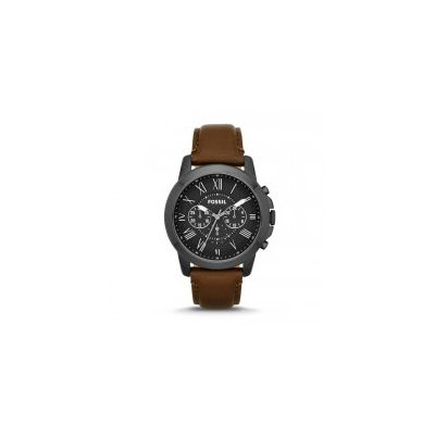 Fossil - Grant Chronograph Leather Watch - Brown