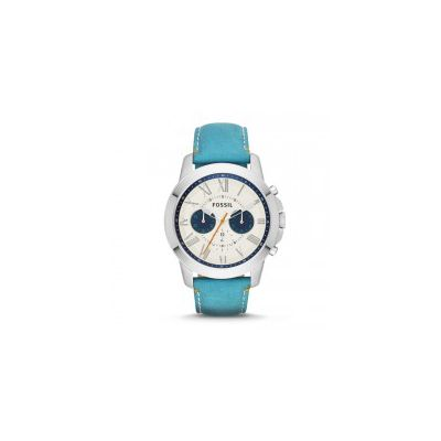 Fossil - Grant Chronograph Leather Watch - Blue