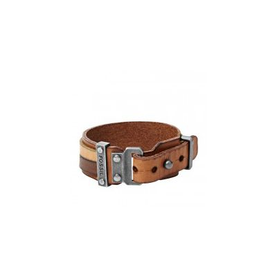 Fossil - Leather Bracelet – Two-Tone