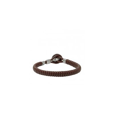 Fossil - Leather Bracelet- Brown