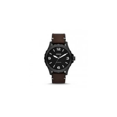 Fossil - Nate Three-Hand Leather Watch - Brown