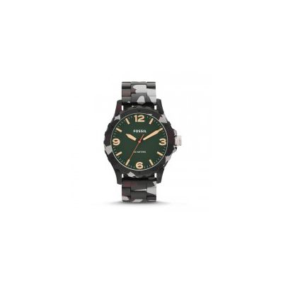 Fossil - Nate Three-Hand Resin Watch – Green Camo