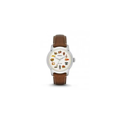 Fossil - Limited Edition Townsman Three-Hand Leather Watch - Brown