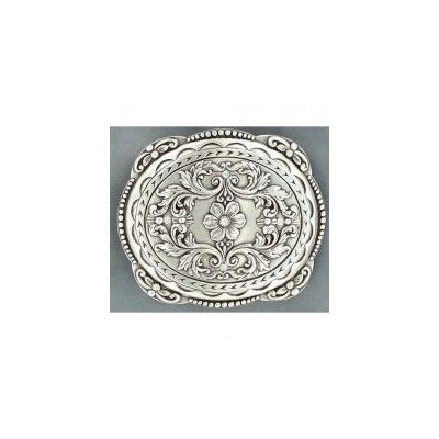 Nocona Floral & Scroll Rhinestone Buckle