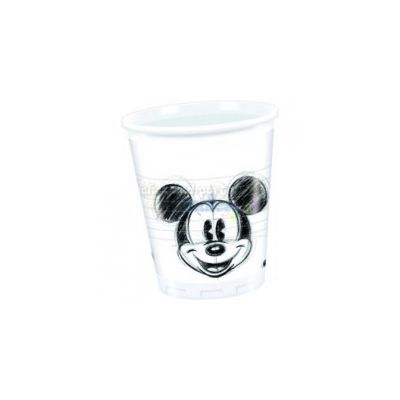 Set 25 pahare party Mickey Faces - 200 ml