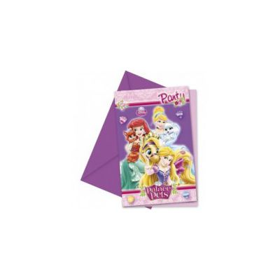 Set 6 invitatii party Princess Palace Pets