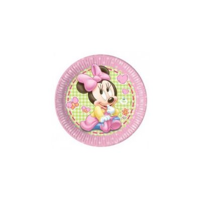Set 8 farfurii party 23 cm Minnie Baby