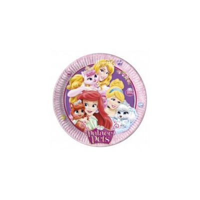 Set 8 farfurii party Princess Palace Pets 23 cm