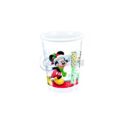 Set 8 pahare party Mickey Xmas - 200 cc