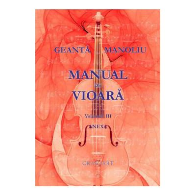 Manual de vioara. Anexa vol. III. Geanta Manoliu