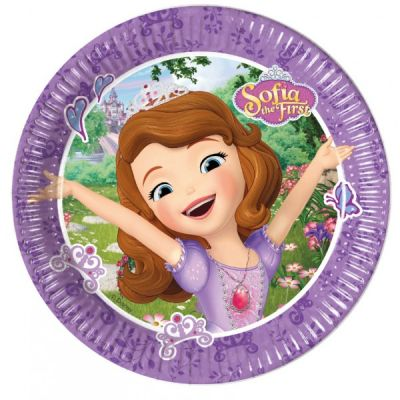 Set 8 farfurii party carton 20 cm Sofia Mystic Isles